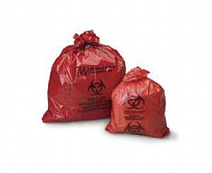 "Biohazard Infectious Waste Bags, 14"" x 19"", Case/ 500"