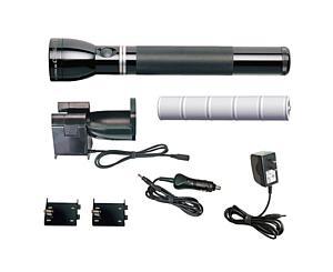 Heavy-Duty Rechargeable Flashlight System, #1 w/ 12V/120V