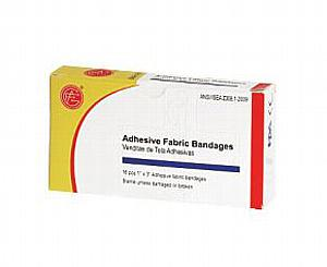 "Adhesive Plastic Bandages, 25pcs, 3/4"" x 3"""