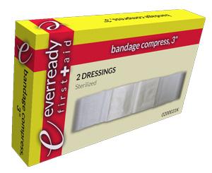 """Bandage Compress, 3"""", Box/2"""