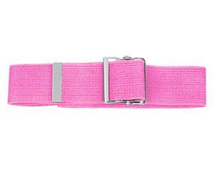 Cotton Gait Belt with Metal Buckle, Hot Pink