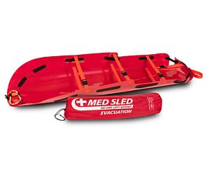 Med Sled Vertical Lift Rescue Sled, Red
