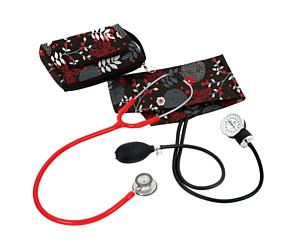 Aneroid Sphygmomanometer / Clinical Lite Stethoscope Kit, Adult, Night Garden, Print
