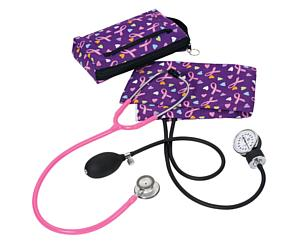 Aneroid Sphygmomanometer / Clinical Lite Stethoscope Kit, Adult, Love and Believe
