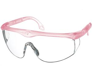 Colored Full-Frame Adjustable Eyewear, Frosted Pink, Frosted