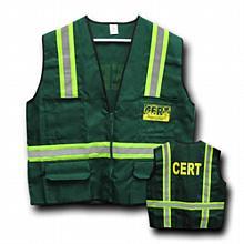 CERT Safety Jacket / Vest w/ Reflective Stripes