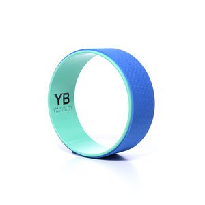 "Jumbo (15"") Yoga Wheel [YOGABODY Official] – The Wonder Wheel – DVD & Pose Chart Included, Teal/Blue"