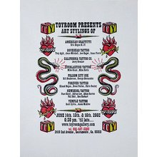 "Toyroom ""Tattoo Show"" Poster - White Paper"