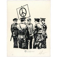 "Obey Giant ""Peaceful Protestor"" Signed Letterpress"